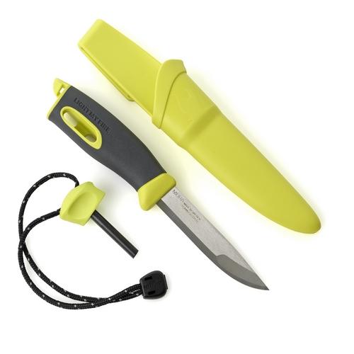 Couteau pierre à feu lame inox Lime