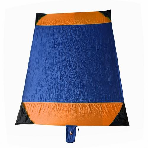 Tapis Bleu et orange