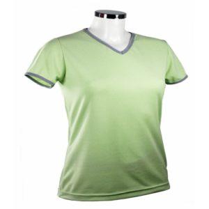 Tee shirt femme bicolore col v