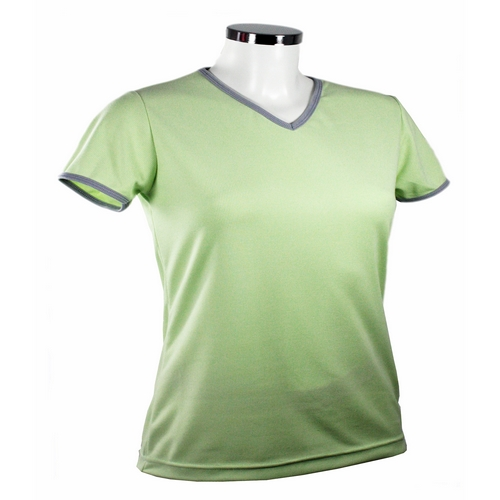 tee-shirt-femme-bicolore-col-v-woody-vert-papillon-px