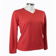 Tee shirt femme manches longues rouge