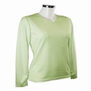 Tee shirt femme manches longues vert