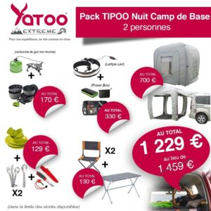 yatoo extreme pack tipoo nuit camp de base