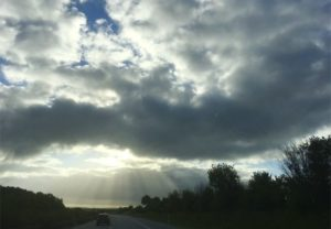 Photo ciel et nuages en roadtrip