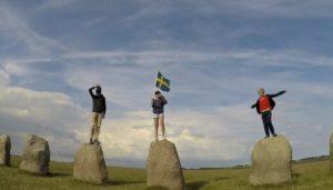 Photo famille roadtrip en Suède